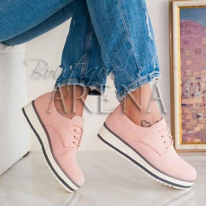 cumpara online magazin de desfacere vândut în toată lumea Pantofi dama casual oxford cu sireturi Kaliani Roz - MuJeR.ro